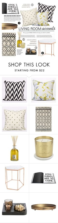"""""""living room accents"""" by gentillehome ❤ liked on Polyvore featuring interior, interiors, interior design, home, home decor, interior decorating, Dr. Vranjes, Tom Dixon, Bloomingville and Arteriors"""