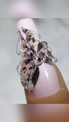Rose Nails, Rose Nail Art, Gel Nail Art, Nail Art Designs Videos, Nail Art Videos, Colorful Nail Designs, Fall Nail Designs, Xmas Nails, Diy Nails