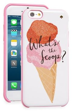 kate spade new york 'what's the scoop?' iPhone 6 & 6s case available at #Nordstrom