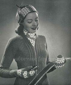 Subversive Femme: Snow Train, Monarch Yarns circa. 1942