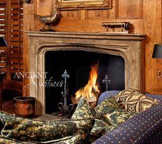 #Italian #Fireplace #limestone #french #Stone #Wood #Antique #beautiful #mantel