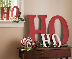 Buy letters and paint at the craft store and make decorations with the kiddos