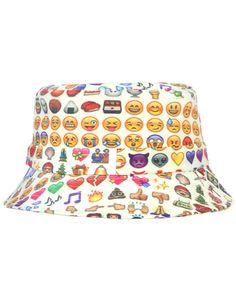 #EMOJI BUCKET HAT at shopjeen.com