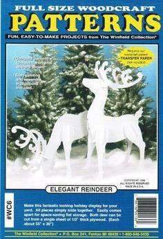 Elegant Reindeer Christmas Yard Art Woodworking Pattern