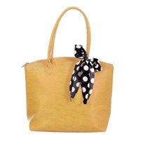 Versatile Hand Bag With Polka Dotted Bow