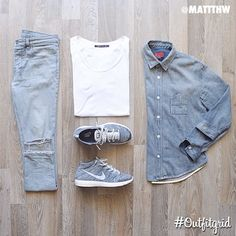 Outfitgrid started as a way of bringing the community together to showcase style. Style Casual, Casual Wear, Casual Outfits, Men Casual, Outfit Grid, Mode Masculine, Mode Outfits, Fashion Outfits, Mode Man