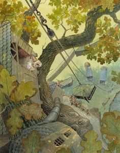 Piano Delivery - My latest illustration for Paisley Rabbit And The Treehouse Contest - Chris Dunn