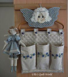 Ulla's Quilt World: Christmas angels - YoYo