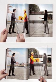 DHL magazine print ad