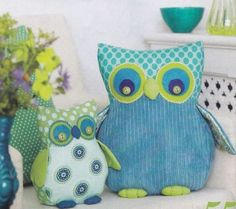 Sewing Pattern - Owl - Doorstop, Cushion, Toys, Applique, Key Fob, Card | eBay