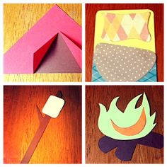 These would be cute door decs for suites of 4. Each resident gets their own camping item door dec