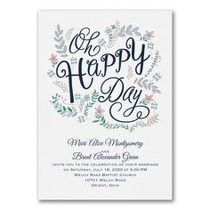 Blue and White Wedding Ideas - Whimsical Floral - Invitation > Wedding Invitations | Occasions In Print, LLC | SCOTTSDALE, AZ (Invitation Link - http://occasionsinprint.carlsoncraft.com/Wedding/Wedding-Invitations/3254-TWS40745-Whimsical-Floral--Invitation.pro)