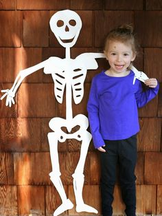 DIY Halloween Decoration:  Life-Sized Skeleton from Fun at Home with Kids