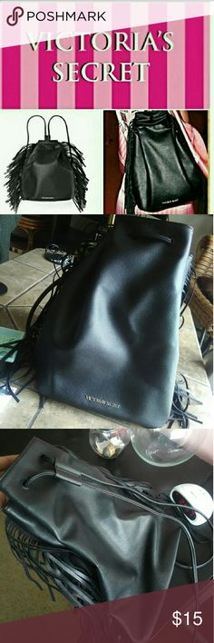 Victoria Secret Bag Never used. Faux leather. 14 in width 13 1/2 in height Victoria Secret Bags Backpacks