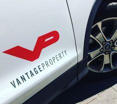 Corporate branding design and car wraping by GK Creative Studios. Ford Kuga @vantageproperty Vantage Property Marbella.