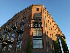 Ehemaliger Getreidespeicher mit Apartments und Loftbüros am gentrifizierten alten Hafen in Münster in Westfalen im Münsterland