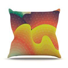 "Akwaflorell ""Waves Waves"" Throw Pillow"