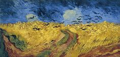 Wheatfield with Crows.  On display in the Van Gogh Museum in Amsterdam. In real life you can see his fingerprints in the paint.