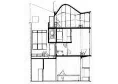 antonio bonet Paraguay y Suipacha - Corte Le Corbusier, Ground Floor, Second Floor, Floor Plans, House, Architecture, Design, Drawings, 2d