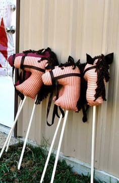 Diy stick horses = very cute!