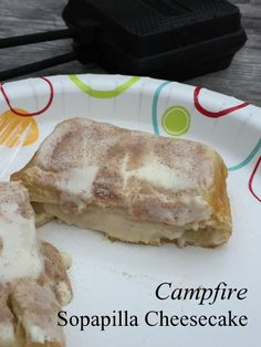 Campfire Sopapilla Cheesecake - Making Memories With Your Kids Camping Desserts, Camping Meals, Camping Recipes, Camping Cooking, Backpacking Food, Camping Stuff, Family Camping, Camping Tips, Outdoor Cooking