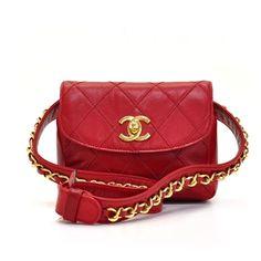 Lady in red...  #Chanel #Vintage #Belt #Bag