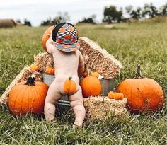 Baby Pumpkin Pictures, Halloween Baby Pictures, Pumpkin Patch Pictures, Pumpkin Photos, Baby Halloween, Salem Halloween, Fall Baby Pictures, Baby Boy Photos, Holiday Pictures