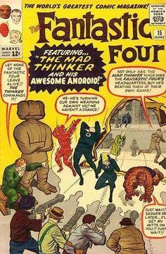 Fantastic Four # 15 , June 1963 , Marvel Comics Vol 1 1961 Marvel Comics, Old Comics, Marvel Comic Books, Comic Books Art, Comic Superheroes, Marvel Villains, Ms Marvel, Marvel Heroes, Captain Marvel