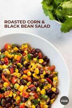 Roasted Corn and Black Bean Salad is easy, fast, and full of flavor. You can mak… Roasted Corn and Black Bean Salad is easy, fast, and full of flavor. You can make this picnic-friendly salad with a homemade dressing in under 30 minutes. Black Bean Corn Salad, Black Bean Salad Recipe, Bean Salad Recipes, Roasted Corn Salad, Oven Roasted Corn, Vegetarian Recipes, Healthy Recipes, Healthy Salads, Healthy Sides