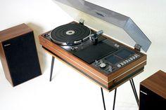 1970s Sharp SG-315 teak music centre with hairpin legs on eBay