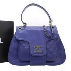 Chanel Caviar Leather Bag 36081 Blue