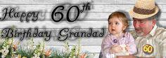 Granddad Banner Party Banners, Crochet Hats, Birthday, Knitting Hats, Birthdays, Dirt Bike Birthday, Birth Day