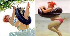 10+ Sexy Illustrations Of Hilda: The Forgotten Plus-Size Pin-Up Girl From The 1950s | Bored Panda