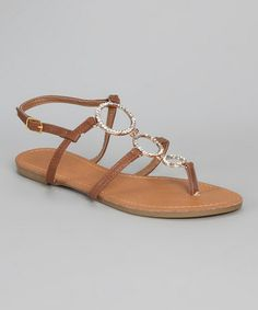 Take a look at this Tan Rhinestone Sandal by Shoes of Soul on #zulily today!