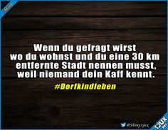 quotes cortas Was gibt es besseres, als ein Dorfki - quotes Haha Funny, Funny Cute, Funny Jokes, Some Quotes, Best Quotes, Remember Quotes, Short Funny Quotes, Quotes About Everything, Wit And Wisdom