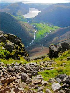 Wasdale from Great Gable, Cumbria, UK. Wonderful Places, Beautiful Places, British Holidays, British Countryside, Spa, Cumbria, Lake District, British Isles, Canada