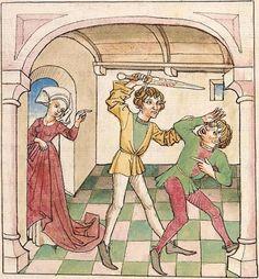 Antonius <von Pforr> Buch der Beispiele der alten Weisen — Oberschwaben, um 1475 Cod. Pal. germ. 466 Folio 18r