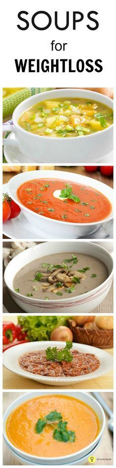 There are several varieties of soups to choose from, ranging from rich creamy ones to slimming soups. Here are 10 easy and healthy recipes of diet soups for weight loss for you to try for dinner tonight. detox soup for weight loss Weight Loss Soup, Weight Loss Meals, Diet Plans To Lose Weight, Healthy Weight Loss, Losing Weight, Healthy Diet Recipes, Healthy Eating, Healthy Soups, Healthy Food