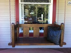Stickley Mission Style Porch Swing This would look great on my front porch Wish