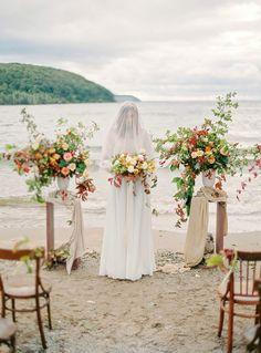 Wedding Ceremony Inspiration | Idyllic Countryside Wedding Inspiration by Olga Plakitina Photography