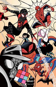 Blank Page Anxieties Black Spiderman, Spiderman Art, Amazing Spiderman, Chibi Marvel, Marvel Art, Marvel Dc Comics, Spiderman Pictures, Miles Morales Spiderman, Marvel Drawings