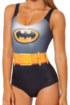 Batman Suit Graphic Swimsuit