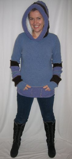 Blue  purple and brown by Melinmade on Etsy, $95.00