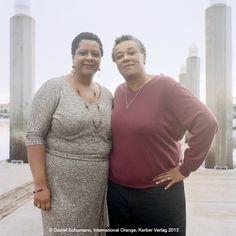 Judy (47), OH & Cheryl (54), MI / Oakland, January 2013 #InternationalOrange