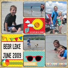 Lori Whitock Simple Summer Collectino Digital Layout by Tya Smith.