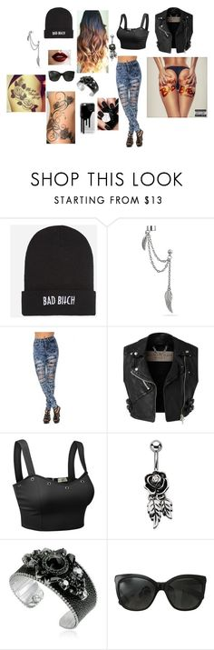 """Bad Bicth"" by alwaysmovingforward18 ❤ liked on Polyvore featuring Kill Brand, Bling Jewelry, Burberry, Doublju, REMINISCENCE, Chanel, Casetify, women's clothing, women's fashion and women"