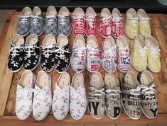 Shoes for days! 14 pairs of tekkies on their way to Nigel 👟😀👍#handmade #sonskynliefde #mooiloop #shoes #tekkies #nigel #14