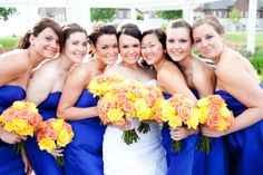 These all-rose bouquets are stunning with the blue dresses!  Ornsby_Dwyer_Monica_Z_Photography_cmwed27_low