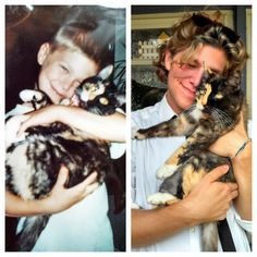 These two, still snuggling 15 years later. | 26 Then And Now Pictures Which Can't Not Make You Smile