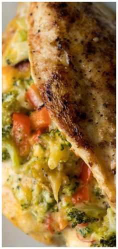 Broccoli Cheese Stuffed Chicken Breast ~ Filled with a simple broccoli cheese mixture, seared in a skillet, then baked to perfection. Healthy Cooking, Cooking Recipes, Healthy Recipes, What's Cooking, Healthy Eating, Entree Recipes, Dinner Recipes, Dinner Ideas, Meal Ideas